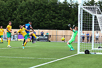 Tayo Obelayo of Hartley Wintney scores the first goal for his team during Horsham vs Hartley Wintney, Friendly Match Football at Hop Oast on 13th July 2019