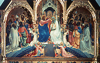 Paintings:  Lorenzo Monaco--Coronation of the Virgin Mary.  Galleria Uffizi, Florence.  Reference only.