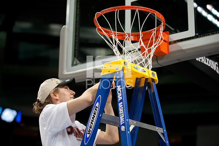 SPOKANE, WA - MARCH 28, 2011: Toni Kokenis, Stanford Women's Basketball vs Gonzaga, NCAA West Regional Finals at the Spokane Arena on March 28, 2011.