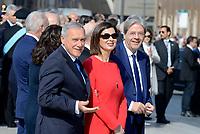 Roma, 2 Giugno 2017<br /> Pietro Grasso, Laura Boldrini, Paolo Gentiloni<br /> 71&deg;anniversario Festa della Repubblica