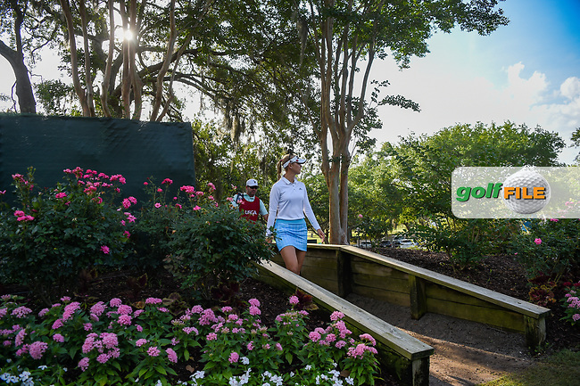 Jessica Korda (USA) makes her way to the tee on 11 during round 2 of the 2019 US Women's Open, Charleston Country Club, Charleston, South Carolina,  USA. 5/31/2019.<br /> Picture: Golffile | Ken Murray<br /> <br /> All photo usage must carry mandatory copyright credit (© Golffile | Ken Murray)
