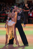 Kyrylo Dovgalin and Viktoriya Kharchenko from Ukraine perform their dance during the Amateur Rising Star Latin competition of the Blackpool Dance Festival that is the most famous event among dance competitions held in Blackpool, United Kingdom on May 29, 2011. ATTILA VOLGYI
