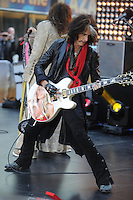 Aerosmith perform on NBC's Today Show at Rockefeller Center in New York City. November 2, 2012.. Credit: Dennis Van Tine/MediaPunch