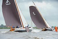 ZEILEN: TERHERNE: Snitser Mar, SKS skûtsjesilen, skûtsje Akkrum in de achtervolging op Earnewâld, ©foto Martin de Jong