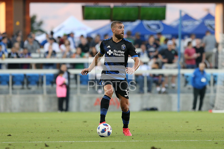 San Jose, CA - Saturday August 25, 2018: Guram Kashia during a Major League Soccer (MLS) match between the San Jose Earthquakes and Vancouver Whitecaps FC at Avaya Stadium.