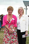 Vivienne Tiernan and Anne Coleman from Drogheda at the Bellewstown Races...Photo NEWSFILE/Jenny Matthews.(Photo credit should read Jenny Matthews/NEWSFILE)....This Picture has been sent you under the condtions enclosed by:.Newsfile Ltd..The Studio,.Millmount Abbey,.Drogheda,.Co Meath..Ireland..Tel: +353(0)41-9871240.Fax: +353(0)41-9871260.GSM: +353(0)86-2500958.email: pictures@newsfile.ie.www.newsfile.ie.FTP: 193.120.102.198.