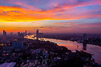 Photographer: Rick Findler<br /> <br /> THAILAND, Bangkok: Sunrise over Bangkok.