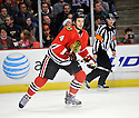 NIKLAS HJALMARSSON,  of the Chicago Blackhawks in action  during the Blackhawks game against the Colorado Avalanche at the United Center in Chicago, IL.  The Colorado Avalanche beat the Chicago Blackhawks 4-3 in Chicago, Illinois on December 15, 2010....