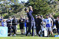 Kevin Na (USA) tees off the 6th tee during Sunday's Final Round of the 2018 AT&amp;T Pebble Beach Pro-Am, held on Pebble Beach Golf Course, Monterey,  California, USA. 11th February 2018.<br /> Picture: Eoin Clarke | Golffile<br /> <br /> <br /> All photos usage must carry mandatory copyright credit (&copy; Golffile | Eoin Clarke)