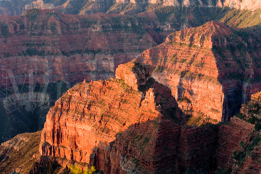 Sunrise over the Grand Canyon's North Rim