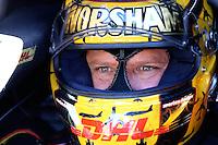 Jul. 26, 2013; Sonoma, CA, USA: NHRA funny car driver Del Worsham during qualifying for the Sonoma Nationals at Sonoma Raceway. Mandatory Credit: Mark J. Rebilas-