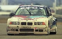 The #06 BMW M3 of Bill Adams, Pete Halsmer, David Donohue, Javier Quiros, and John Paul Jr. races to a 9th place finish in the 24 Hours of Daytona, IMSA race, Daytona International Speedway, Daytona Beach , FL, February 4, 1996.  (Photo by Brian Cleary/www.bcpix.com)