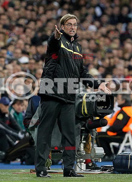 Borusia Dortmund's coach Jurgen Klopp during Champions League 2012/2013 match.November 6,2012. (ALTERPHOTOS/Acero)