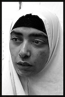 """Obeida Khalil , 27, a Palestinian """"would be suicide bomber"""" is seen at Hasharon Prison, February 25, 2004. Photo by Quique Kierszenbaum"""