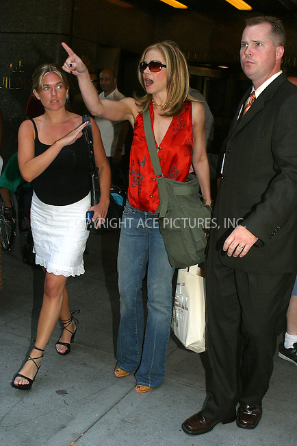 WWW.ACEPIXS.COM . . . . .  ....NEW YORK, JULY 12, 2005....Christina Applegate stops to sign a few autographs while exiting NBC Studios.....Please byline: PAUL CUNNINGHAM - ACE PICTURES..... *** ***..Ace Pictures, Inc:  ..Craig Ashby (212) 243-8787..e-mail: picturedesk@acepixs.com..web: http://www.acepixs.com