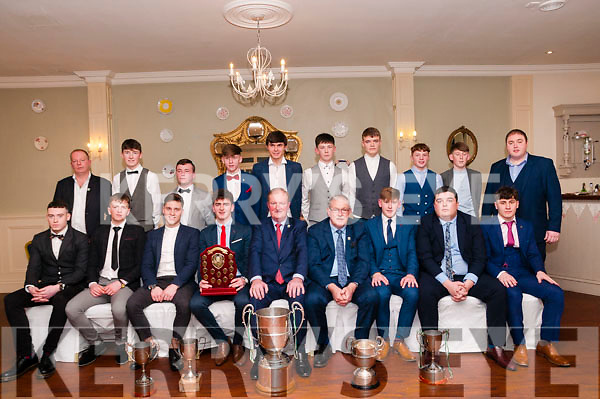 The Ballydonoghue Minor team pictured at the club's annual Social in the Listowel Arms Hotel on Saturday night last.