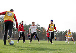 08 December 2005: Southern Methodist's players practice at SAS Stadium in Cary, North Carolina in preparation for the NCAA Men's Division I College Cup semifinals to be played the following day.