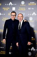 Laurent Blanc et Alain Boghossian<br /> Parigi 3-12-2018 <br /> Arrivi Cerimonia di premiazione Pallone d'Oro 2018 <br /> Foto JB Autissier/Panoramic/Insidefoto <br /> ITALY ONLY