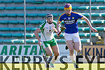 Kerry's Michael O'Leary and London's Nollaig Brophy in  Kerry V London at the ALLIANZ NHL DIVISION 2A at Austin Stack Park on Sunday