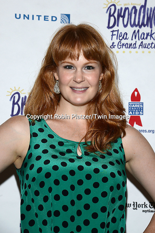 Kate Baldwin attends the 28th Annual  Broadway Cares/ Equity Fights Aids Flea Market and Auction on September 21,2014 in Shubert Alley in New York City. <br /> <br /> photo by Robin Platzer/Twin Images<br />  <br /> phone number 212-935-0770