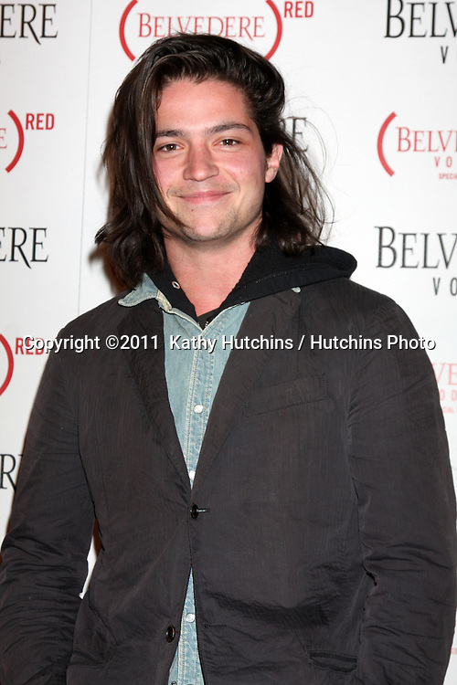 LOS ANGELES - FEB 10:  Thomas McDonell arrives at the Belvedere RED Special Edition Bottle Launch at Avalon on February 10, 2011 in Los Angeles, CA