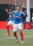 James Tavernier calls for a TV replay to see who scored the last goal