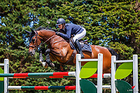 NZL-Christine Cornege rides  Varekai SL. Class 22: Outpost Buildings Horse GP Super Series. 2020 NZL-Collinson Forex Premier Show Jumping At Woodhill Sands. Helensville. Sunday 12 January. Copyright Photo: Libby Law Photography