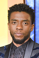 """Chadwick Boseman<br /> arriving for the """"Black Panther"""" premiere at the Hammersmith Apollo, London<br /> <br /> <br /> ©Ash Knotek  D3376  08/02/2018"""