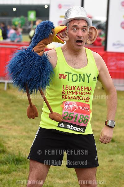 Tony Audenshaw at the start of the 2015 London Marathon, Blackheath Common, Greenwich, London. 26/04/2015 Picture by: Steve Vas / Featureflash