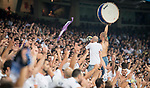 Real Madrid's supporters 'Ultra Sur' during UEFA Champions League match between Real Madrid and Apoel at Santiago Bernabeu Stadium in Madrid, Spain September 13, 2017. (ALTERPHOTOS/Borja B.Hojas)