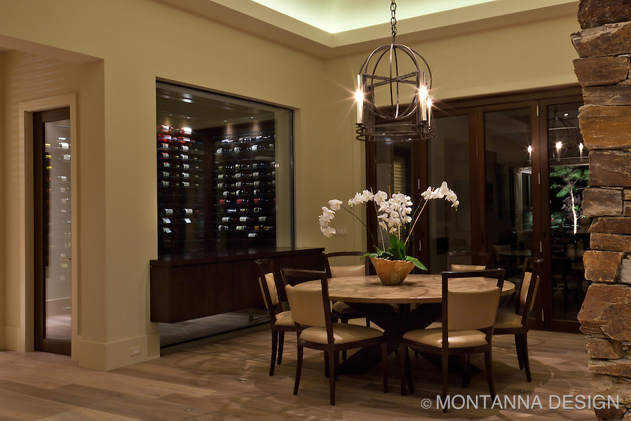 A special dining room for wine tasting and entertaining