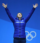 18/02/2018 - Medal ceremonies - Pyeongchang Olympic Plaza - Pyeongchang 2018 Winter Olympics - Korea
