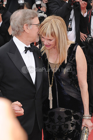 Steven Spielbger and his wife Kate Capshaw at the &acute;The BFG` (The Big Friendly Giant) screening during The 69th Annual Cannes Film Festival on May 14, 2016 in Cannes, France.<br /> CAP/LAF<br /> &copy;Lafitte/Capital Pictures / MediaPunch **North American &amp; South American Rights Only**