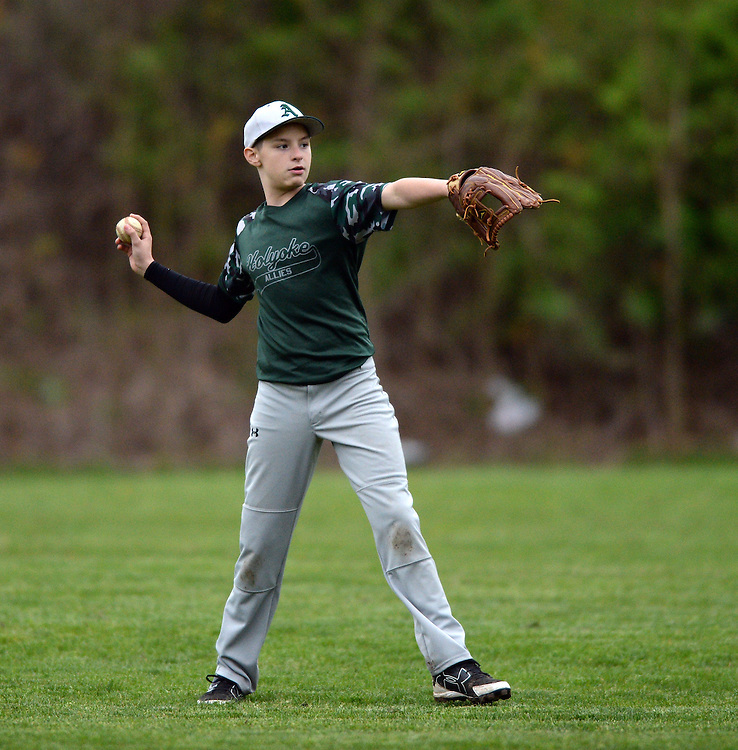 (Holyoke, MA, 05/05/16) Allies Gray take on Western Mass. Rock Hounds during an exhibition game in Holyoke on Thursday, May 05, 2016. Photo by Christopher Evans