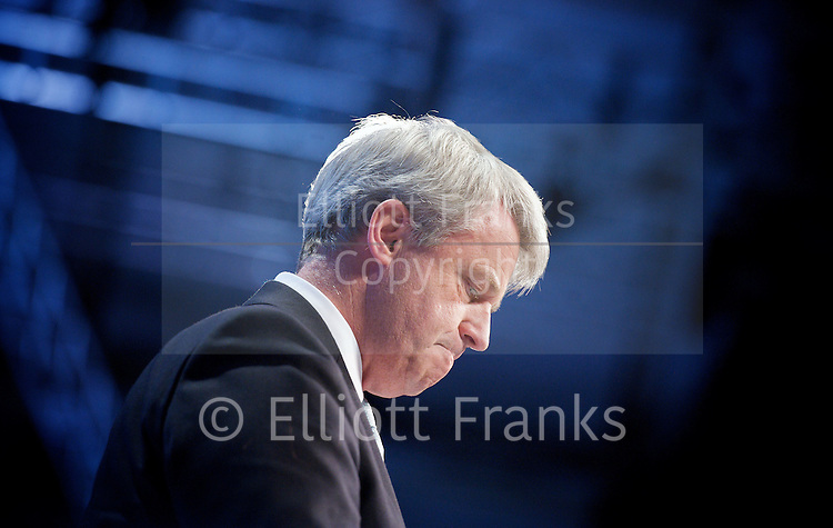 Conservative Party Annual Conference, Manchester, Great Britain <br /> 2nd - 5th October 2011 <br /> <br /> The Right Honourable<br /> Andrew Lansley <br /> CBE MP<br /> Secretary of State for Health<br /> <br /> Photograph by Elliott Franks