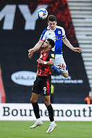 Darragh Lenihan of Blackburn Rovers wins a header from Dominic Solanke of Bournemouth during AFC Bournemouth vs Blackburn Rovers, Sky Bet EFL Championship Football at the Vitality Stadium on 12th September 2020