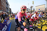 Taylor Phinney (USA) EF Education First lines up before the start of the 2019 Ronde Van Vlaanderen 270km from Antwerp to Oudenaarde, Belgium. 7th April 2019.<br /> Picture: Eoin Clarke | Cyclefile<br /> <br /> All photos usage must carry mandatory copyright credit (&copy; Cyclefile | Eoin Clarke)
