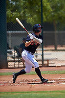 AZL Indians Blue Will Brennan (30) at bat during an Arizona League game against the AZL Indians Red on July 7, 2019 at the Cleveland Indians Spring Training Complex in Goodyear, Arizona. The AZL Indians Blue defeated the AZL Indians Red 5-4. (Zachary Lucy/Four Seam Images)