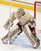 Thatcher Demko (BC - 30) - The Boston College Eagles defeated the visiting University of Notre Dame Fighting Irish 4-2 to tie their Hockey East quarterfinal matchup at one game each on Saturday, March 15, 2014, at Kelley Rink in Conte Forum in Chestnut Hill, Massachusetts.