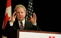 February 22, 2005,   Montreal (Quebec) CANADA<br /> <br /> Jean Charest, Quebec Premier<br /> .Charest was elected for the first time  April 14 2003, he is seeking a 3rd term in the  Quebec provincial election which will be held Dec 14, 2008.