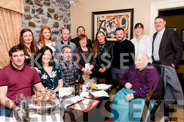 40th Birthday : Thomas Maguire, Ballyduff, front left celebrating his 40th birthday with family & friends at Behan's Horseshoe Restaurant, Listowel on Saturday night last.