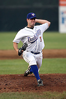 June 26th 2008:  Daniel O'Brien of the Auburn Doubledays, Class-A affiliate of the Toronto Blue Jays, during a game at Falcon Park in Auburn, NY.  Photo by:  Mike Janes/Four Seam Images