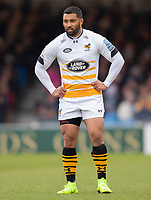 Wasps' Lima Sopoaga<br /> <br /> Photographer Bob Bradford/CameraSport<br /> <br /> Gallagher Premiership - Exeter Chiefs v Wasps - Sunday 14th April 2019 - Sandy Park - Exeter<br /> <br /> World Copyright © 2019 CameraSport. All rights reserved. 43 Linden Ave. Countesthorpe. Leicester. England. LE8 5PG - Tel: +44 (0) 116 277 4147 - admin@camerasport.com - www.camerasport.com