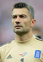 FUSSBALL  EUROPAMEISTERSCHAFT 2012   VORRUNDE Polen - Griechenland      08.06.2012 Torwart Kostas Chalkias (Griechenland)