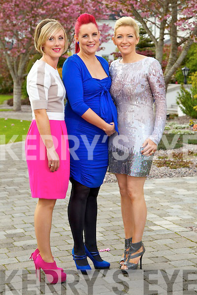 Pictured at the Kerry Fashion Weekend Designer Awards Show in Ballygarry House Hotel on Thursday night, from left: Mags Healy, Joanne Murphy and Elaine Kelliher..