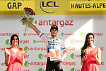 European Champion Matteo Trentin (ITA) Mitchelton-Scott wins Stage 17 and also the day's combativity award of the 2019 Tour de France running 200km from Pont du Gard to Gap, France. 24th July 2019.<br /> Picture: ASO/Alex Broadway | Cyclefile<br /> All photos usage must carry mandatory copyright credit (© Cyclefile | ASO/Alex Broadway)
