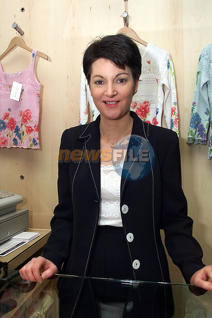 Delores McKeown, manager of Lizabelles boutique in Ardee..pic:Arthur Carron/ Newsfile