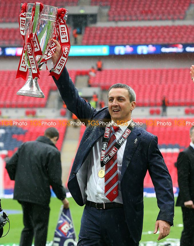 Fleetwood Town chairman Andy Pilley - Burton Albion vs Fleetwood Town, Sky Bet Play Offs - League Two play off final Wembley Stadium - 26/05/14 - MANDATORY CREDIT: Dave Simpson/TGSPHOTO - Self billing applies where appropriate - 0845 094 6026 - contact@tgsphoto.co.uk - NO UNPAID USE