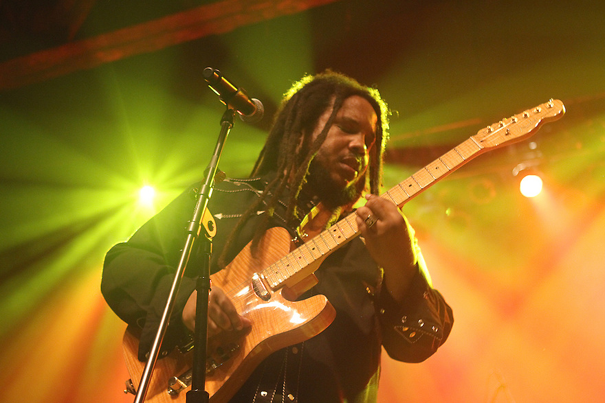 "Stephen Marley performs during the ""Catch A Fire Tour 2015"" stop at The Paramount in Huntington, Long Island on Tuesday, Sept. 1, 2015, in New York. (Photo by Donald Traill/Invision/AP)"
