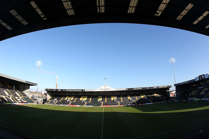 A general View of The Meadow Lane Stadium home of Notts County Football Club<br /> <br /> Photographer Mick Walker/CameraSport<br /> <br /> The Emirates FA Cup Second Round - Notts County v Peterborough United - Sunday 4th December 2016 - Meadow Lane - Nottingham<br />  <br /> World Copyright &copy; 2016 CameraSport. All rights reserved. 43 Linden Ave. Countesthorpe. Leicester. England. LE8 5PG - Tel: +44 (0) 116 277 4147 - admin@camerasport.com - www.camerasport.com